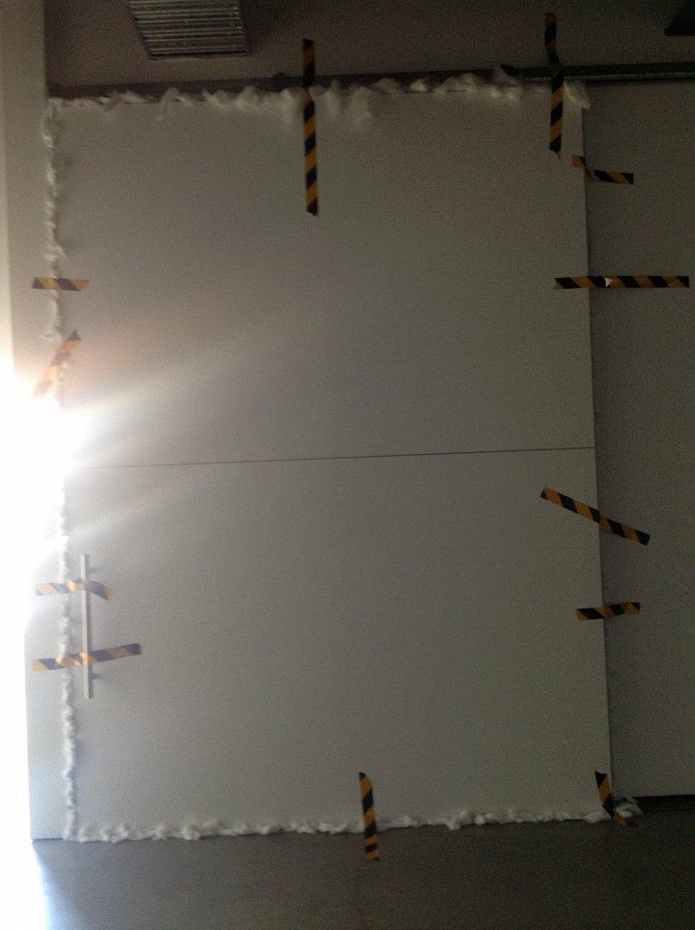 sealing of external vitrine